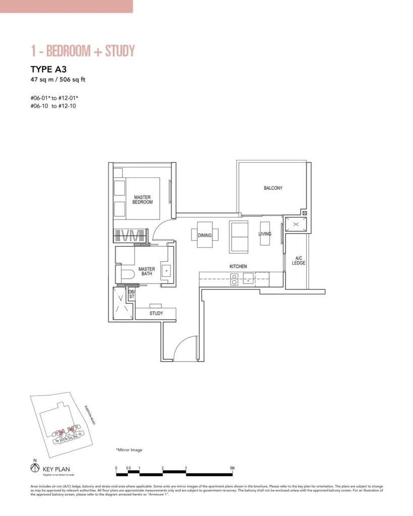 sky-everton-1-bedroom-study-type-a3